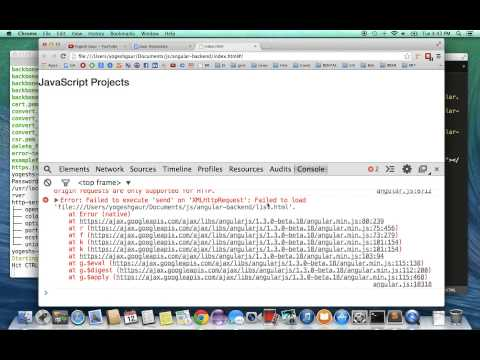 2 minute solution for local Cross Origin Requests problem