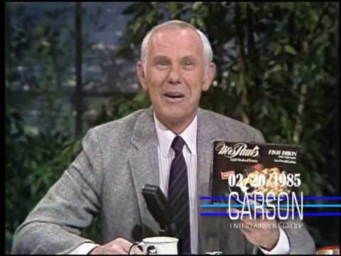 Blooper: Johnny Carson Can't Stop Laughing While Welcoming New Sponsor