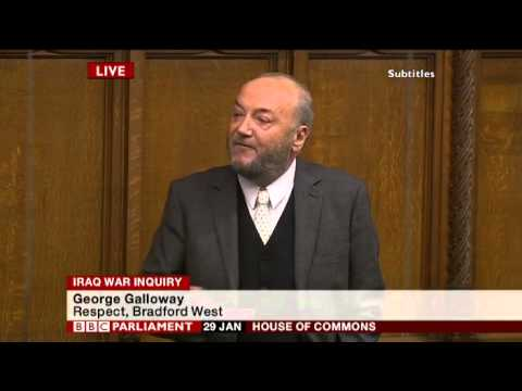 George Galloway speech on Chilcot Inquiry delays - Parliament - 30th January 2015