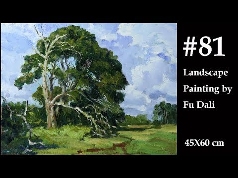 #81 Landscape forest painting oil Painting by Fu Dali