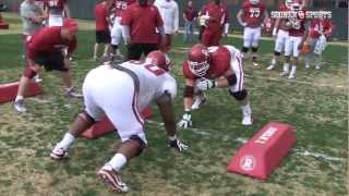 Oklahoma Drill at Spring Practice (03.29.13)