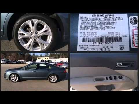 2012 Ford Fusion Se In Hooksett Nh 03106 6415 Youtube