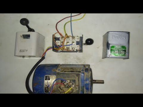 3 phase motor reverse forward connection with switch