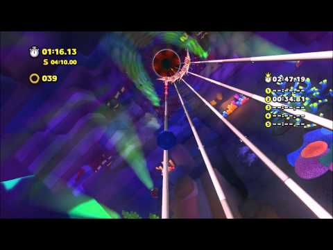 Sonic Lost World (Wii U): Lava Mountain Zone 2 Time Attack 2:46.84