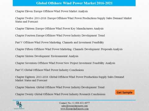 Global Offshore Wind Power Market: Research News and Analysis 2021