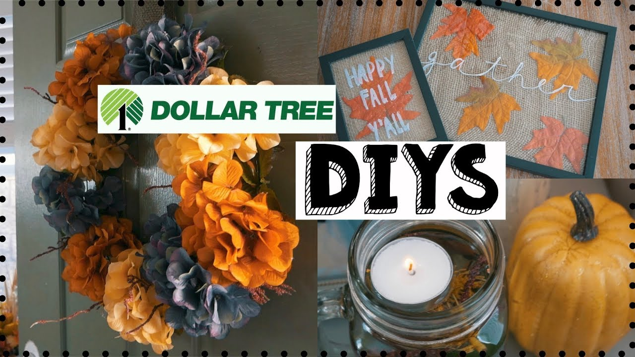 DIY FALL DOLLAR TREE DECOR! 3 FALL DIY DECOR IDEAS! EASY & INEXPENSIVE!