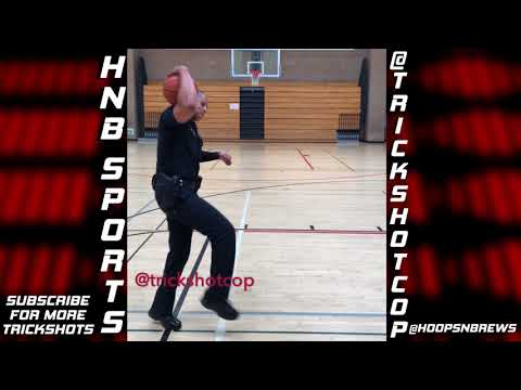 Cop Makes Impossible Basketball Trick Shots | @TrickShotCop | Vol. 1