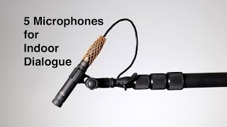 5 Boom Microphones for Indoor Dialogue: Cardioid, Super-cardioid, and Hyper-cardioid