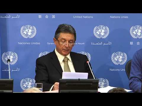 Ukraine UN Representative talking today