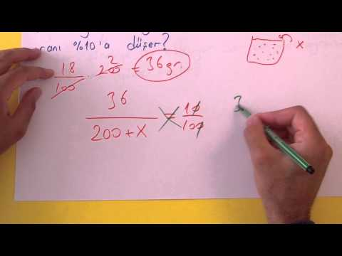 Karışım Problemleri Şenol Hoca Matematik