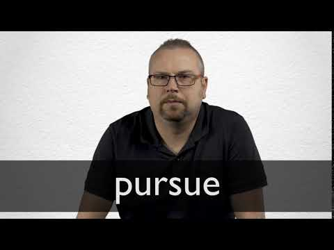 How to pronounce PURSUE in British English