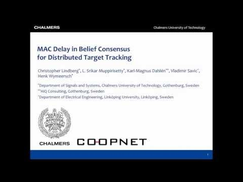 MAC Delay in Belief Consensus for Distributed Tracking