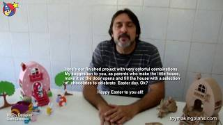 Wood Toy Plans - Easter Egg Bunny House
