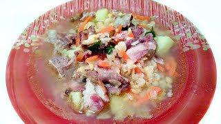 Гороховый суп с копченостями! Вкусно и сытно!