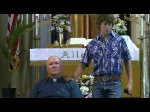 Hunter Cook singing Tears of God by Josh Turner at Grace UMC