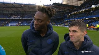 Tammy Abraham and Christian Pulisic celebrate six Premier League wins in a row after beating Palace
