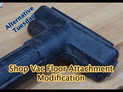 Shop Vac Floor Attachment Modification