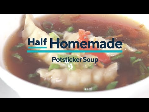 Potsticker Soup | Half Homemade