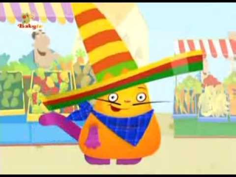 Hungry Henry eating abricotes  - Baby TV - English version