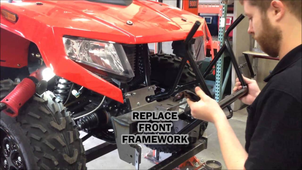 How To Install A Warn Front Plow Mount On A 2016 Arctic