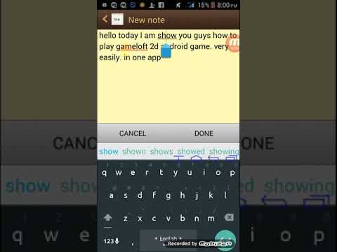 How To Dawonlod All Gameloft 2d Games On A One App Full Games Android 2017