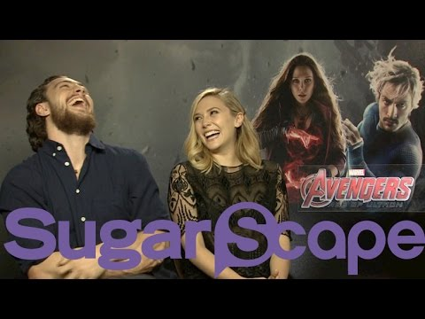 Thumbnail: 'Avengers: The Age of Ultron's' Aaron Taylor-Johnson and Elizabeth Olsen take our superhero quiz