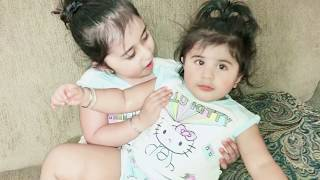 Kid Sahej Pretend plays as Mommy with little Sister Anjali, Cute Being Kids Funny