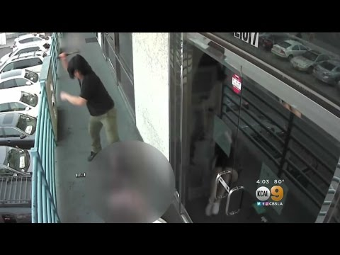 Man Caught On Camera Attacking Woman With Hammer In Koreatown