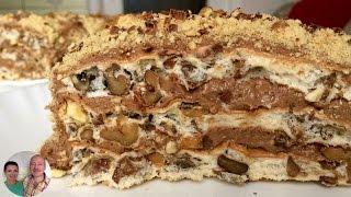 видео Торт с грецкими орехами