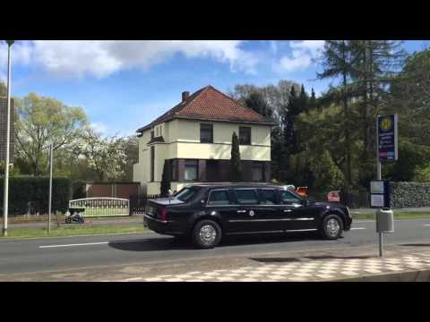 Barack Obama Hannover (HD) presidential convoi just seen in Hannover Germany