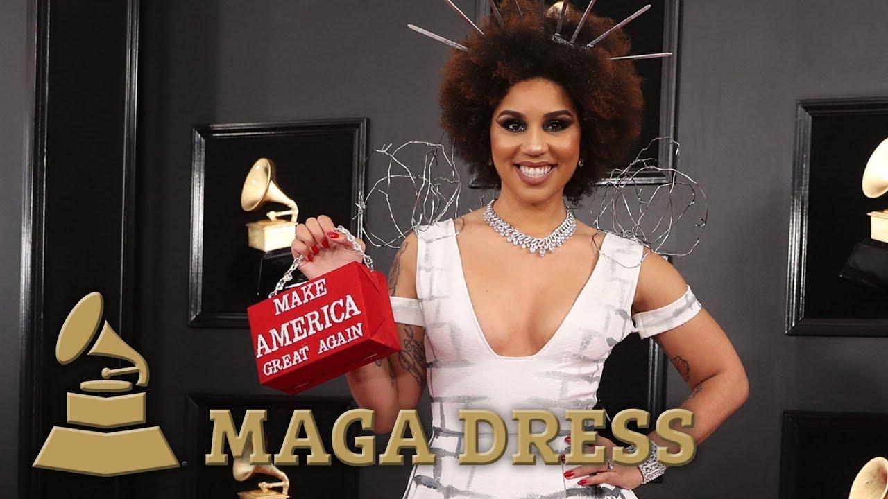 Grammys 2019: Joy Villa's pro-Trump wall outfit