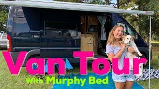 VAN TOUR w/Murphy Bed/ Solo FEMALE full-time Van Life
