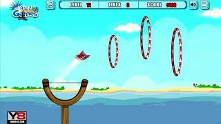 Angry Birds Sling Shot Fun 2 - SHOOT BIRDS THROUGH THE RING SKILL GAME!