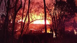 Leilani Estates Hawaii Lava Flow Fissure 5 Kahukai 5/22/2018 Part 5