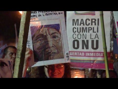Argentinos piden libertad de líder social y apoyan a CIDH