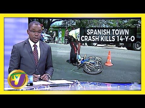 Crash kills 14 yr old in Spanish Town Jamaica | TVJ News