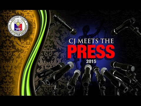 The Chief Justice meets the Press 2015