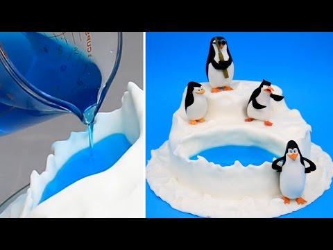 Penguins Of Madagascar Jello Pool Cake How To Make By Cakesstepbystep Youtube