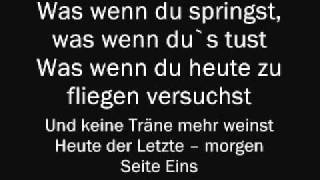 Christina Stürmer - Seite Eins (Lyrics & English Translation)
