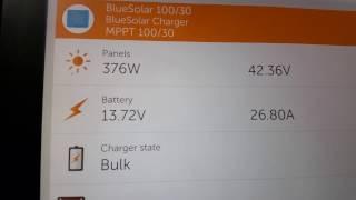 Adams Off-Grid Solar: Midday Sun Comparision: Powertech MP-3735 vs Victron BlueSolar MPPT 100/30