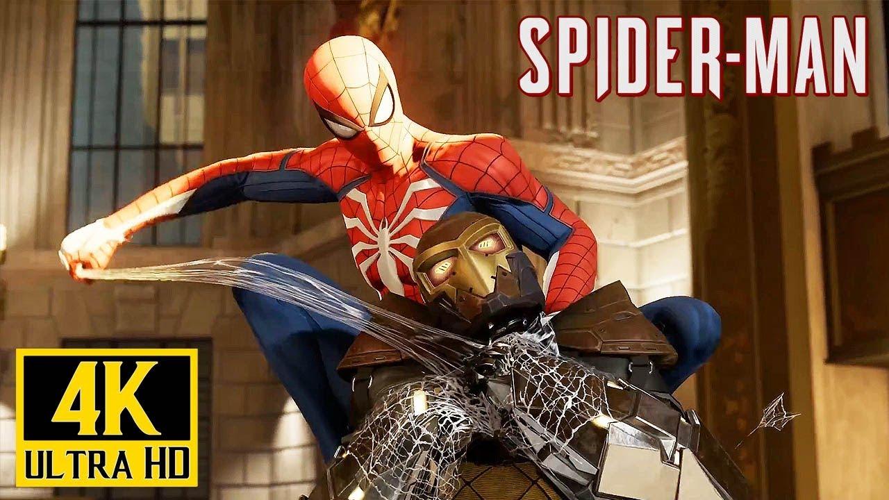 [4K] SPIDERMAN (PS4) - Spiderman vs Shocker Gameplay E3 2018 @ 1080p UHD ✔