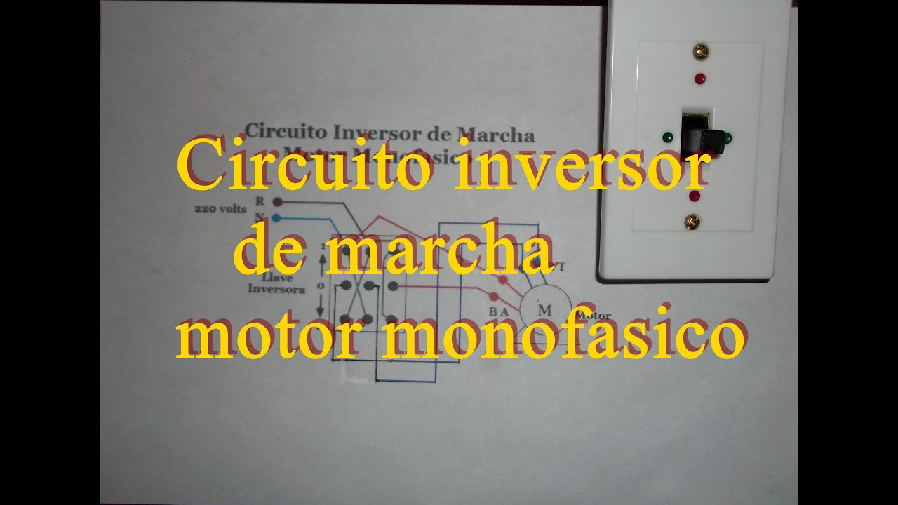 Inversion de marcha con llave conmutadora motor monofasico for Cambiar instalacion electrica sin rozas