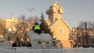 Пресс-тур в ледовый городок