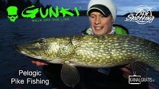 Gunki TV - Pelagic Pike Fishing in Sweden - Fish Spotting (French Subtitles)
