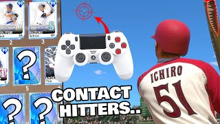 power swinging with CONTACT HITTERS ONLY... MLB THE SHOW 19 DIAMOND DYNASTY