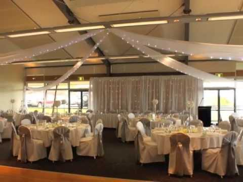 Fort Scratchley Wedding With Ceiling Drapery And Fairy