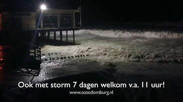 Domburg Strand  oase domburg strandpaviljoen - storm