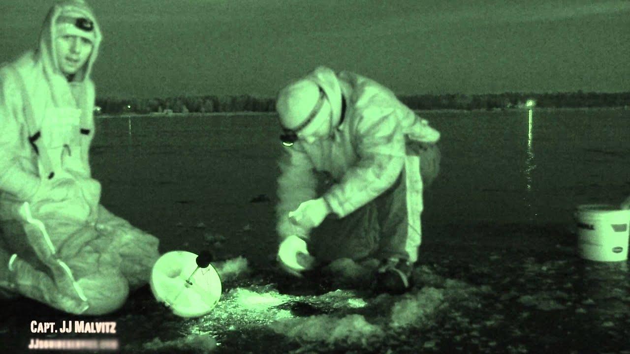 Little bay de noc night vision walleye ice fishing 2013 for Bay de noc fishing report