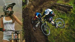 Sports Moments MTB Freeride Through Forest
