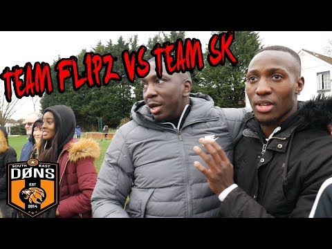 Sunday League Football: SE DONS 'CHRISTMAS SPECIAL' TEAM FLIPS vs TEAM SK Ft FANS & PLAYERS